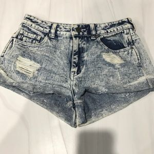 Kendall and Kylie Distressed Denim Cut Off Shorts